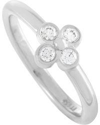 Tiffany & Co. - Platinum 0.10 Carat Diamond Ring - Lyst