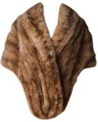 Miu Miu Mink Fur Stole Wrap - Brown
