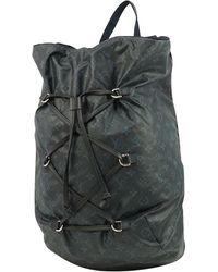 Louis Vuitton Backpack Mens Ruck Sack Daypack M41707 Cobalt - Blue