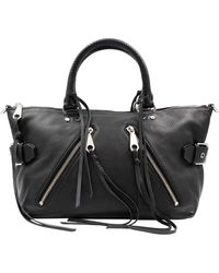 Rebecca Minkoff Moto Msrp Small Leather Satchel Tote Purse Hs15emos26 - Black