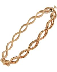 Roberto Coin - Barocco Rose Gold Braided Bangle Bracelet - Lyst