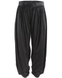 Undercover Pleated Silk Harem Pants - Black