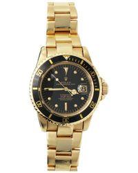Rolex - Vintage Submariner 1680 Nipple Dial Service Papers 18 Karat Gold Mint - Lyst