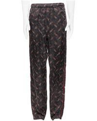 Bottega Veneta Runway 100% Silk Black Red Speckle Print Pajama Pants It48 - White