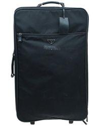 Prada Nylon Signature Rolling Suitcase - Black