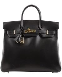 Hermès Hermes Hac Birkin Bag Noir Box Calf With Gold Hardware 32 - Black