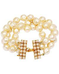 Chanel 1989/1990 Documented Baroque Pearl Bracelet - Metallic