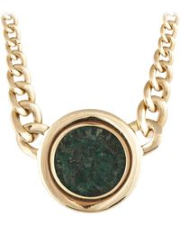 Chimento Ancient Coin 18k Gold Link Necklace - Metallic