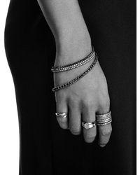 Eva Fehren 6.21 Ct Line Bracelet In 18k Blackened Gold With Black Diamonds - White