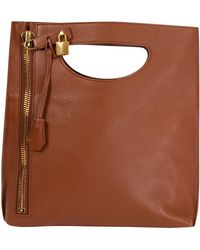 Tom Ford Cognac Leather Alix Small Shoulder Bag - Brown