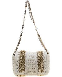 Dolce & Gabbana - Crochet Fabric Miss Charles Shoulder Bag - Lyst