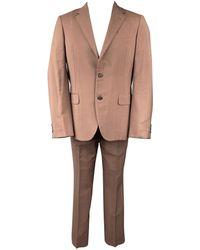 Prada Size 38 Mohair / Wool Notch Lapel Suit - Brown
