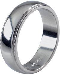 Tiffany & Co. - Platinum Milgrain Wedding Band - Lyst