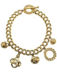 Givenchy Vintage Gold Chain & Charm Statement Necklace 1980s - Metallic