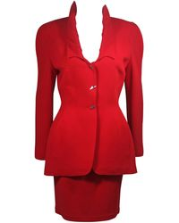 Thierry Mugler Contoured Skirt Suit Size Size 40
