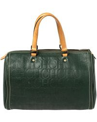 Carolina Herrera - Monogram Leather Large Andy Boston Bag - Lyst