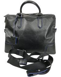 BOSS by Hugo Boss Black & Leather Business Bag Carry On Shoulder Bag - Blue