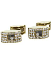 Chopard Happy Diamond Gold Cufflinks - Metallic