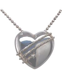 Tiffany & Co. - Large Sterling Heart And Chain - Lyst