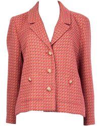 Chanel - Cotton Tweed Blazer Jacket 46 Xxl - Lyst