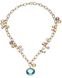 Goshwara Multi-color Charm Necklace - Metallic
