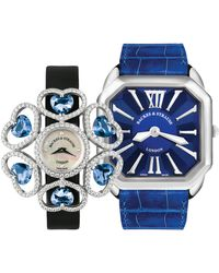 Backes & Strauss Luxury Diamond Watch Duo For Men And Women - Limited Holiday Offer - 25%discount - Blue