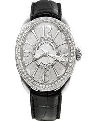 Backes & Strauss Regent Steel 3643 Sp Luxury Diamond Watch For Women, Stainless Steel - Multicolor