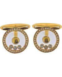 Chopard Gold Happy Diamond Cufflinks - Metallic