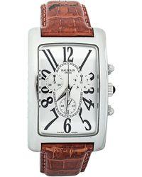 Balmain Pierre Silver Stainless Steel & Leather 5841 Men's Wristwatch 33 Mm - Metallic