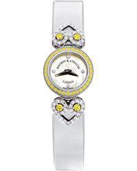 Backes & Strauss Miss Victoria Fancy Canary Luxury Diamond Watch For Women, 18 Karat Gold - White