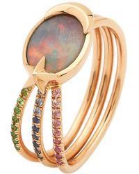Bibi Van Der Velden Opal Shooting Star Ring - Multicolor