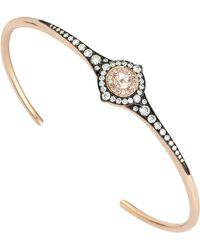 Monan 18 Karat Gold 0.58 Carat Diamond Bracelet Or Bangle - Metallic