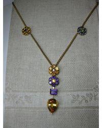 Chimento Flower Necklace Citrine Tanzanite Amethyst Peridot 18 Karat Gold Modern - Purple