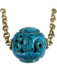 """Stephen Dweck - Carved 2+"""" Turquoise Necklace New, Never Worn 1990s - Lyst"""