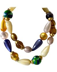 Chanel Iconic Vintage Architectural Colorful Bead Statement Necklace - Multicolor