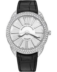 Backes & Strauss Piccadilly Renaissance 33 Luxury Diamond Watch For Women, Gold - White