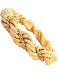 Tiffany & Co. Vintage Italy 18 Karat Gold Rope Bracelet - Metallic