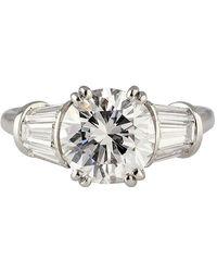 Harry Winston 2.02 Carat E Color Vs1 Round Diamond Engagement Ring - Metallic