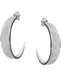 Ralph Masri Modernist Diamond Hoops - Multicolor