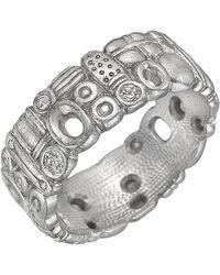 Alex Sepkus Platinum And Diamond Band Ring - Metallic