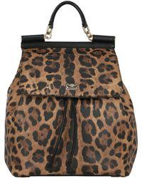 Dolce & Gabbana Woman Backpacks Sicily Leather - Black