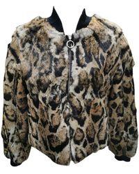Roberto Cavalli Brand New Rex Rabbit Fur Jacket (size 6-s) - Black