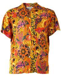 Gianfranco Ferré Gianfranco Ferre Vintage Men's Bold Print Shirt - Orange