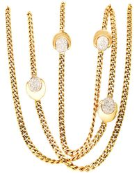 Chimento Diamond Gold Necklace - Metallic