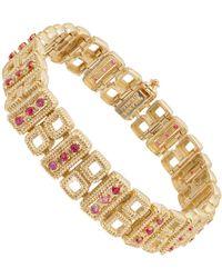 Tiffany & Co. - 1.60 Carat Ruby Gold Link Bracelet - Lyst