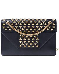 Saint Laurent Paris Leather Studded Betty Shoulder Bag - Black