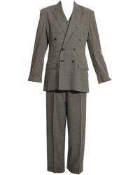 Vivienne Westwood Unisex Checked Wool Three-piece Pant Suit, Fw 1992 - Black