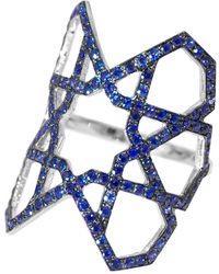 Ralph Masri Arabesque Deco Sapphire Ring - Blue