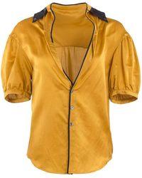 Undercover 2007 Mustard Silk Pajama Style Blouse - Yellow