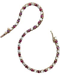 Tiffany & Co. - Gold Diamond And Ruby Riviere Bracelet - Lyst